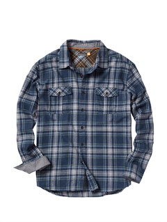 BSL0Men s Hazard Cove Long Sleeve Flannel Shirt by Quiksilver - FRT1
