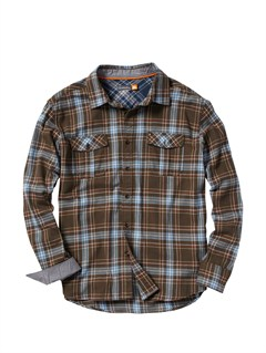 KQZ0Men s Beacon Point Long Sleeve Flannel Shirt by Quiksilver - FRT1