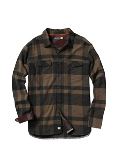 KVJ0Men s Beacon Point Long Sleeve Flannel Shirt by Quiksilver - FRT1