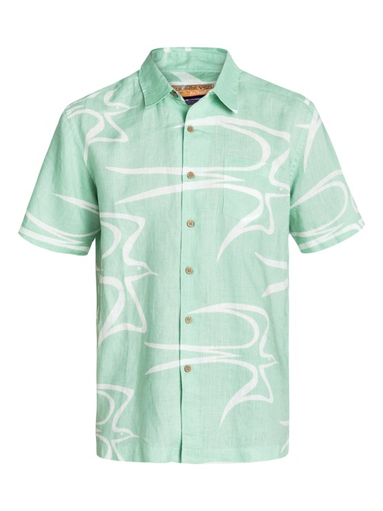 GES0Men s Aganoa Bay Short Sleeve Shirt by Quiksilver - FRT1