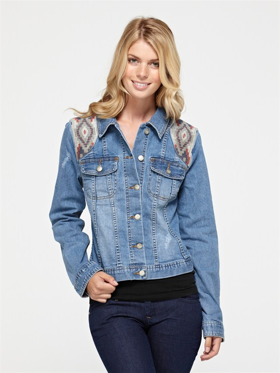 BSFWDancing Shores Jean Jacket by Roxy - FRT1