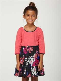 KVJ6Girls 2-6 Block Party Dress by Roxy - FRT1