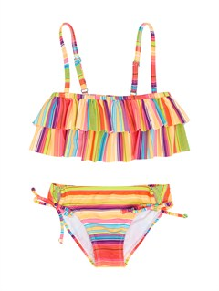 MNA4Girls 2-6 Doll Face Tiki Tri Set Swimsuit by Roxy - FRT1