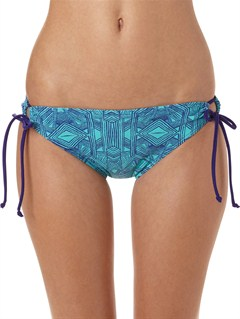 PQS3Bali Tide Scooter Lowrider Tie Side Bikini Bottoms by Roxy - FRT1