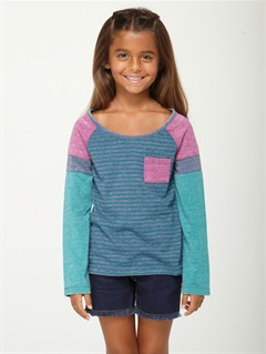 BSW3Girls 2-6 Back Bay Peacoat by Roxy - FRT1