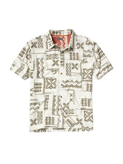 WCF0Men s Aganoa Bay Short Sleeve Shirt by Quiksilver - FRT1