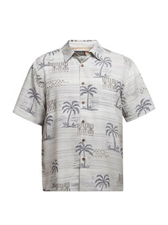 SHB0Men s Aganoa Bay Short Sleeve Shirt by Quiksilver - FRT1