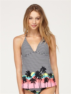BLKBeach Dreamer Tiki Tri Bikini Top by Roxy - FRT1