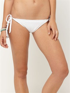 WHTAgainst the Tide Surfer Side Tie Bikini Bottoms by Roxy - FRT1