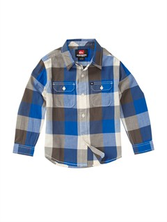 BQR1Boys 2-7 Bam Bam Long Sleeve Flannel Shirt by Quiksilver - FRT1