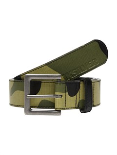 GRA0Sector Leather Belt by Quiksilver - FRT1