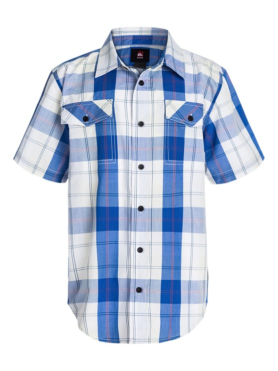 BQZ0Boys 8- 6 Mountain And Wave Shirt by Quiksilver - FRT1