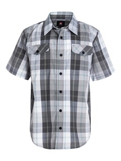 KRP0Boys 8- 6 Box Plaid Long Sleeve Shirt by Quiksilver - FRT1