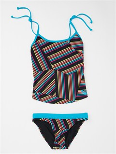 BLKGirls 7- 4 Peaceful Dreamer Criss Cross Tankini Set Swimsuit by Roxy - FRT1