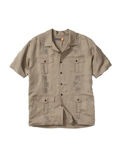 TMS0Men s Baracoa Coast Short Sleeve Shirt by Quiksilver - FRT1