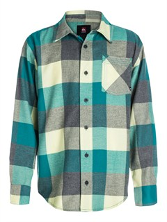BQJ0Boys 8- 6 Box Plaid Long Sleeve Shirt by Quiksilver - FRT1