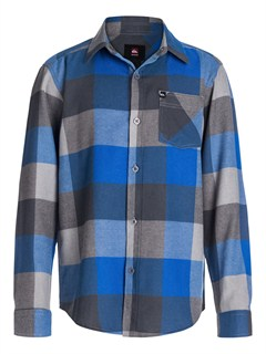 BQZ0Boys 8- 6 Box Plaid Long Sleeve Shirt by Quiksilver - FRT1