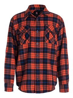 NNK0Boys 8- 6 Box Plaid Long Sleeve Shirt by Quiksilver - FRT1