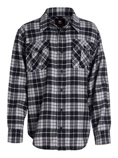 SKT0Boys 8- 6 Box Plaid Long Sleeve Shirt by Quiksilver - FRT1