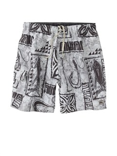 "SDT0Butt Logo  7"" Volley Boardshorts by Quiksilver - FRT1"