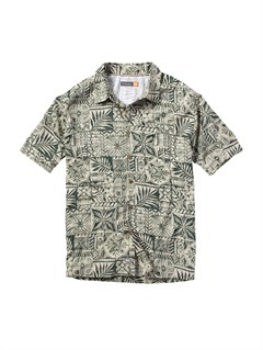 GRNMen s Aganoa Bay Short Sleeve Shirt by Quiksilver - FRT1
