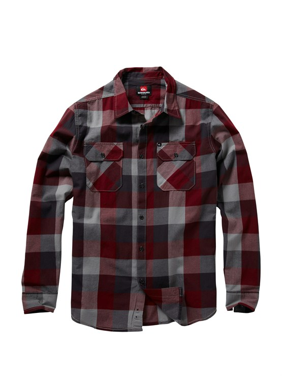 RSS1Meet On Long Sleeve Flannel Shirt by Quiksilver - FRT1