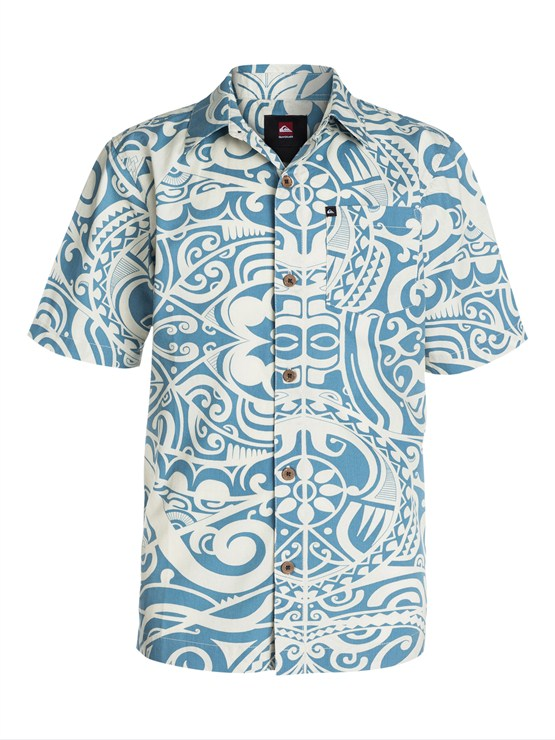 BMC0Boys 8- 6 Mountain And Wave Shirt by Quiksilver - FRT1