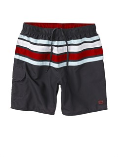 "KSA0Butt Logo  7"" Volley Boardshorts by Quiksilver - FRT1"