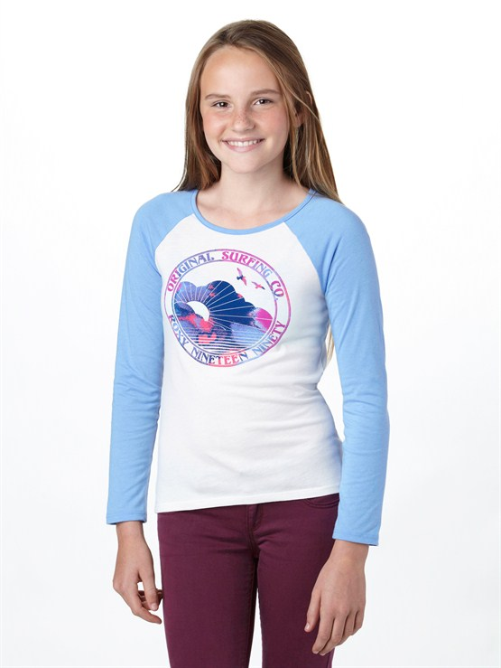 WBS0Girls 7- 4 Roxy Border Rashguard by Roxy - FRT1