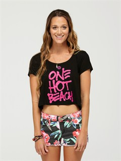 BLKRoxy Wave V-Neck Tee by Roxy - FRT1