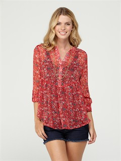 RQM7Gypsy Garden Top by Roxy - FRT1