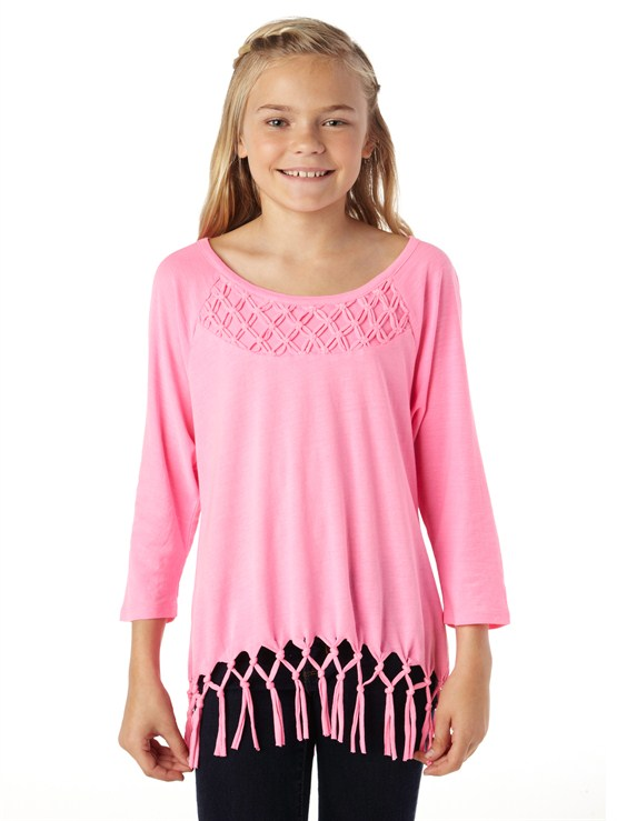 MLW0Girls 7- 4 Roxy Border Rashguard by Roxy - FRT1