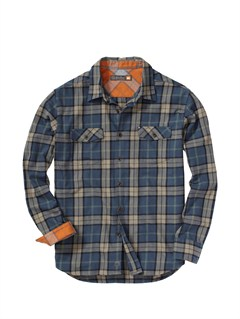 BSL0Fuzzy Goggles Long Sleeve Flannel Shirt by Quiksilver - FRT1