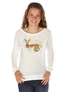 WBS0Girls 7- 4 A Chance Storm Sweater by Roxy - FRT1