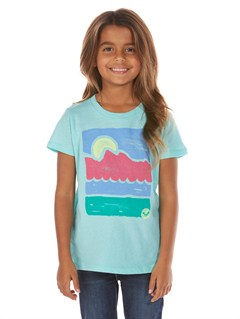 BGH0Girls 2-6 Block Rocks Harmony Tee by Roxy - FRT1