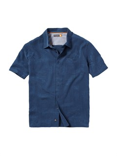 NVYMen s Aganoa Bay Short Sleeve Shirt by Quiksilver - FRT1