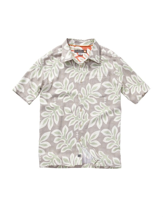 SMB0Men s Aganoa Bay Short Sleeve Shirt by Quiksilver - FRT1