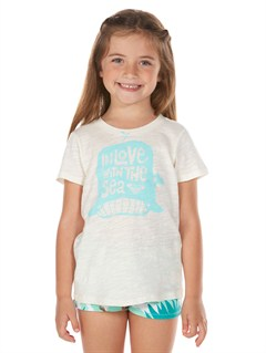 WBS0Girls 2-6 Block Rocks Harmony Tee by Roxy - FRT1