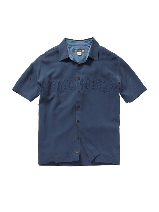 BSN0Men s Aganoa Bay Short Sleeve Shirt by Quiksilver - FRT1