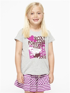PEWGirls 2-6 Block Rocks Harmony Tee by Roxy - FRT1