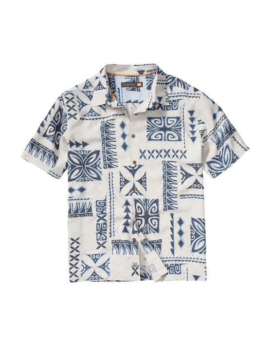 WEJ0Men s Aganoa Bay Short Sleeve Shirt by Quiksilver - FRT1