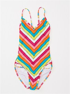 FUSGirls 7- 4 Blooming Bliss Tiki Triangle One Piece Swimsuit by Roxy - FRT1
