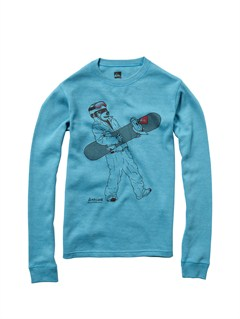 BLK0Boys 8- 6 After Dark Long Sleeve T-Shirt by Quiksilver - FRT1