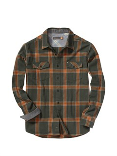 GSS0Men s Beacon Point Long Sleeve Flannel Shirt by Quiksilver - FRT1