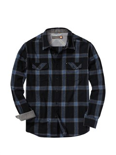 KVJ0Men s Hazard Cove Long Sleeve Flannel Shirt by Quiksilver - FRT1