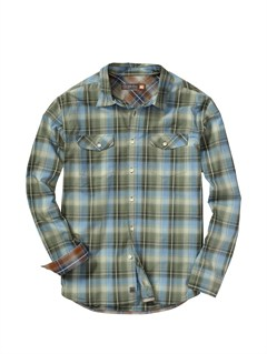 GSS0Men s Hazard Cove Long Sleeve Flannel Shirt by Quiksilver - FRT1