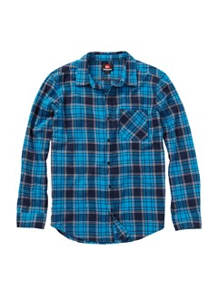 BMM1Meet On Long Sleeve Flannel Shirt by Quiksilver - FRT1