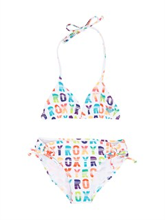 WBB7Girls 2-6 Roxy Border Tiki Tri Set Swimsuit by Roxy - FRT1