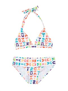 WBB7Girls 7- 4 Beach Bound 70s Halter Set With Cups by Roxy - FRT1