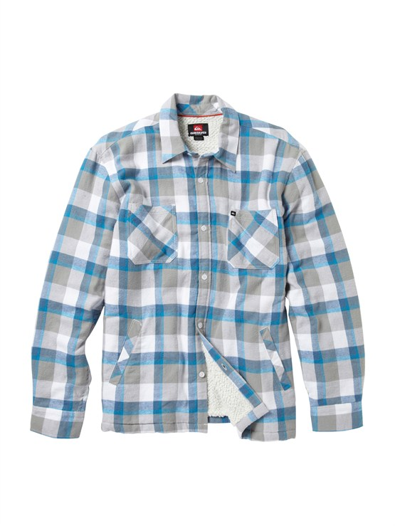 WBB1Meet On Long Sleeve Flannel Shirt by Quiksilver - FRT1